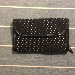 Black and White Polka Dot thirtyone Wallet